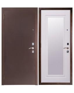 Входная дверь Sidoorov 67 Зеркало макси сандал белый