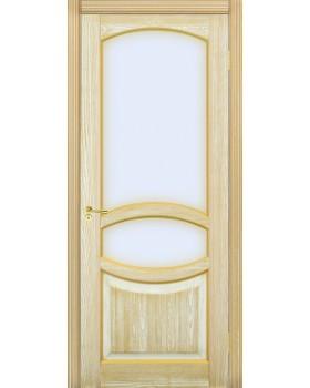 Грация со стеклом Ультра белая эмаль + патина золото